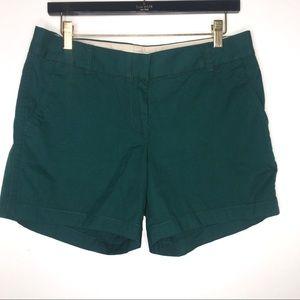 50%off‼️ J Crew Jade Green Cotton Chino Shorts 6